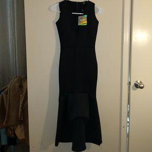 Missguided scuba fishtail dress